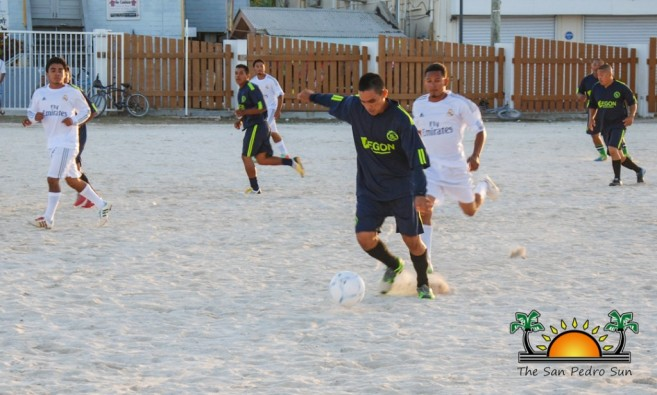 """Catracho"" taking aim at the goal during a past football tournament, where he played with Team Peace Makers."
