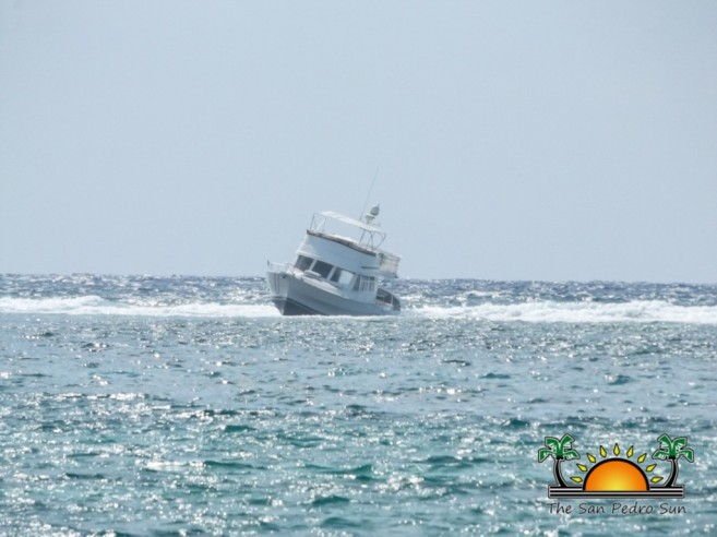 Boat Runs Aground on Reef-1