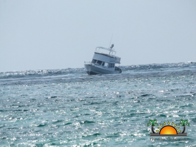 Boat Runs Aground on Reef-3