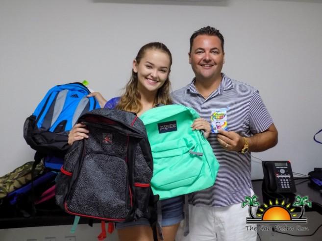 Miss San Pedro High Faith Noel Backpack Donation-1