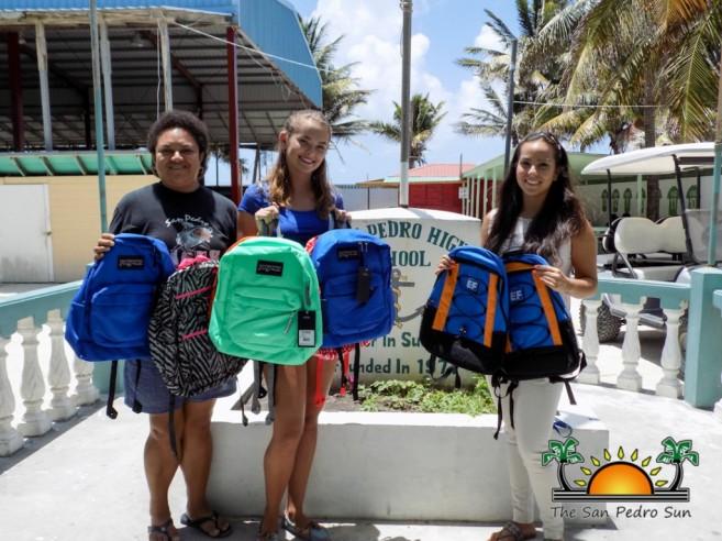 Miss San Pedro High Faith Noel Backpack Donation-2