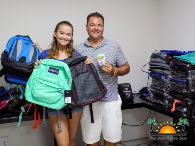 Miss San Pedro High Faith Noel Backpack Donation-3