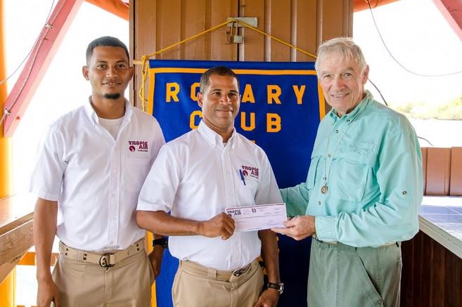 34 Tropic Air Donates to Rotary