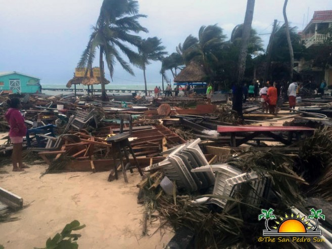 Hurricane Earl leaves a path of destruction on Ambergris Caye ...