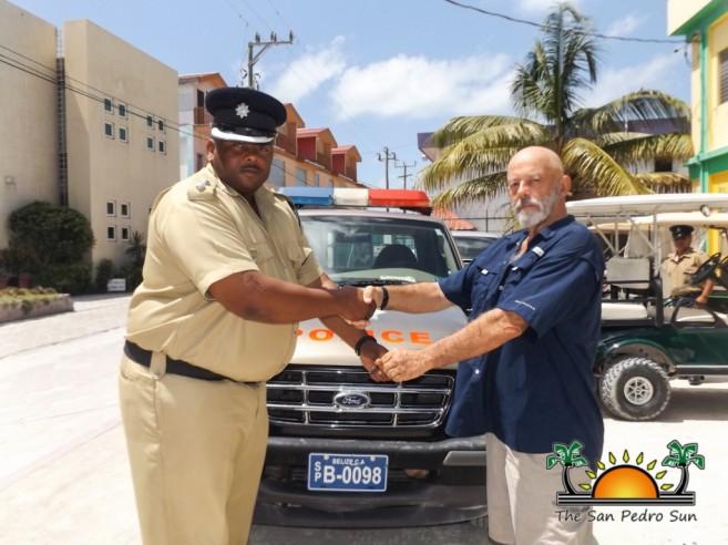 Mahogany Bay Village Donates Truck SPPD-1
