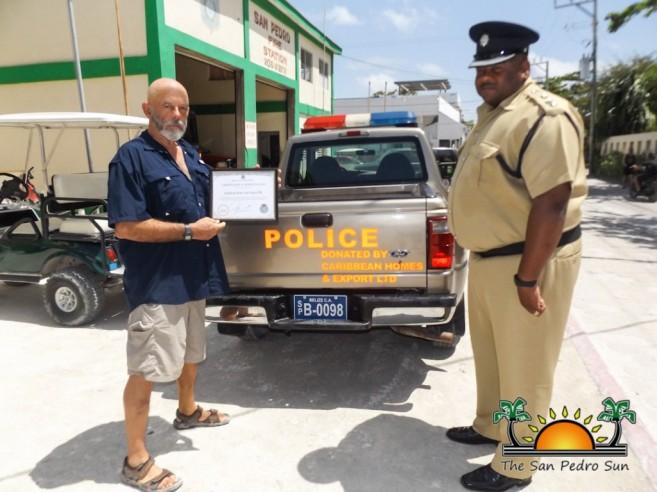 Mahogany Bay Village Donates Truck SPPD-2