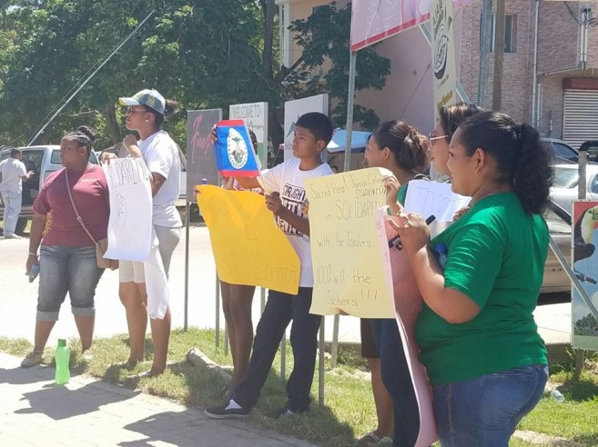 Sacred Heart students show support to BNTU