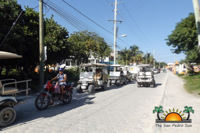 high-season-traffic-preparations-san-pedro-ambergris-caye-1