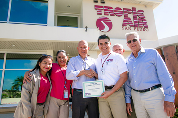 yensi l maldonado is february s employee of the month at tropic air