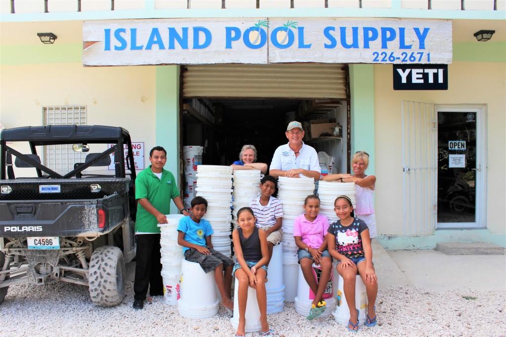 Island Pool Supply Donates Buckets To DFC Eco Rangers